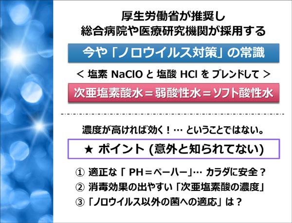 ノロウイルス対策 ソフト酸性水の作り方 札幌 外食ビジネス専門家 有限会社ファインド 太田耕平