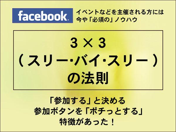 札幌 外食ビジネス専門家 有限会社ファインド 太田耕平 3×3の法則