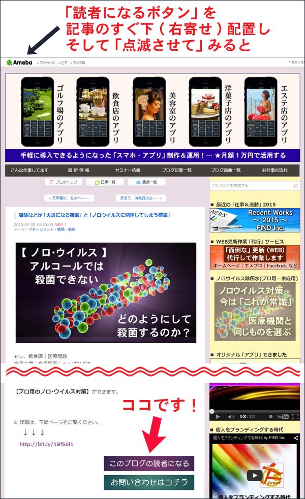 アメブロ 読者になるボタン 効果測定 フードビジネス 専門家 研究所 ファインド 札幌 太田耕平