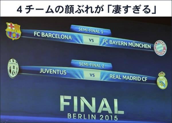 UEFAチャンピオンズリーグ2015 準決勝 フードビジネス 専門家 研究所 ファインド 札幌 太田耕平