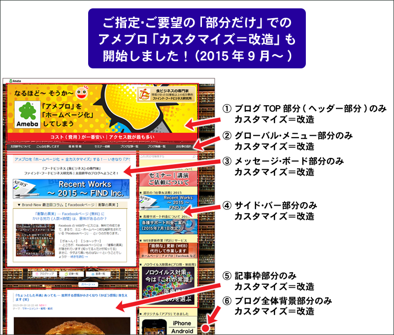 アメブロ部分だけカスタマイズ800 フードビジネス 専門家 研究所 ファインド 札幌 太田耕平