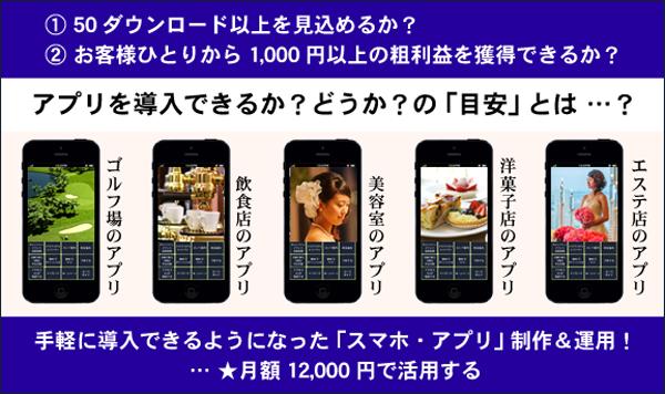 アプリ導入の目安 フードビジネス 専門家 研究所 ファインド 札幌 太田耕平